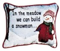 In The Meadow Christmas Decorative Tapestry Pillow