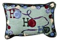 Ho Ho Ho Christmas Inspirational Decorative Tapestry Pillow