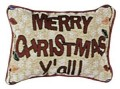 Merry Christmas Y'all Decorative Tapestry Pillow