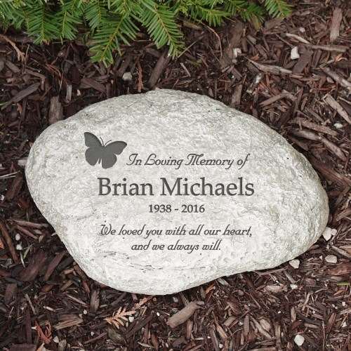 Garden Stone Memorial Personalized in loving memory butterfly memorial garden stone personalized in loving memory butterfly memorial garden stone workwithnaturefo