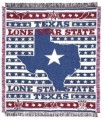 Lone Star State Texas Tapestry Throw