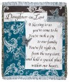 Personalized Daughter In Law Inspirational Tapestry Throw