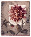 Tellised Dahlias Tapestry Throw Size 60x50