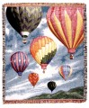 Hot Air Balloons Tapestry Throw