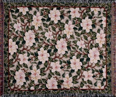 Magnolia In Bloom Tapestry Throw Size 60x50