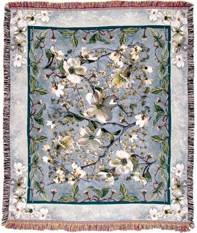 Flowering Dogwood Tapestry Throw Size 60x50