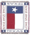 Texas Lone Star Tapestry Throw