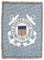 Personalized US Coast Guard Military Tapestry Throw