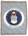 Personalized US Air Force Military Tapestry Throw