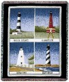Lighthouses Tapestry Throw