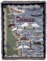 Beaches of Delaware Lighthouses Tapestry Throw