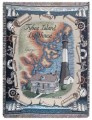 Tybee Island Lighthouse Tapestry Throw