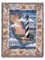 St Augustine Lighthouse Tapestry Throw