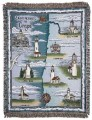 Lighthouses of Oregon Tapestry Throw
