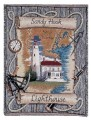 Sandy Hook New Jersey Lighthouse Tapestry Throw