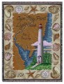 Cape May Point New Jersey Lighthouse Tapestry Throw