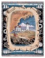 Nubble Light Maine Lighthouse Tapestry Throw