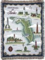 Lighthouses of Florida Tapestry Throw