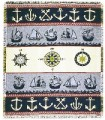 Nautical Symbols Tapestry Throw