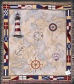 Nautical Novelties Lighthouse Tapestry Throw