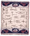 Captains Compass Tapestry Throw