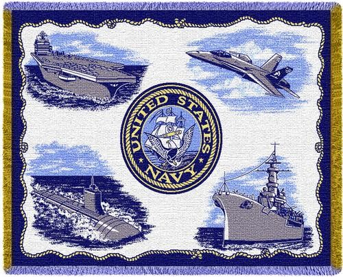 Personalized Us Navy Services Military Tapestry Throw Imallshoppe Com