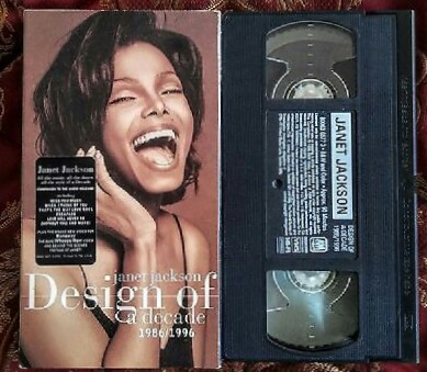 Janet Jackson Design of a Decade VHS 1986-1996