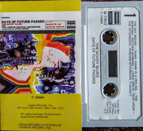 Days of Future Passed Moody Blues Cassette M77612 (1967) Paper Label
