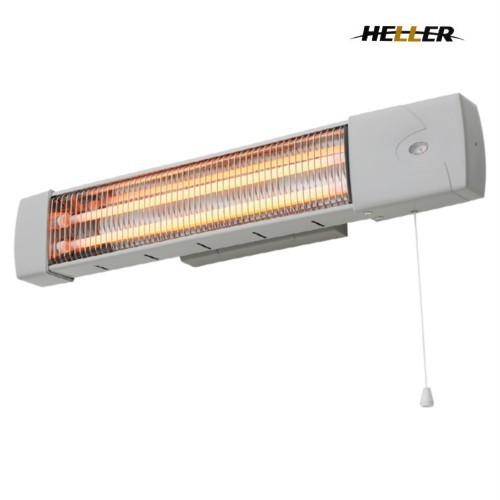 Heller 1200w Wall Mounted Bathroom Strip Heater With Pull Cord Bourne Electronics