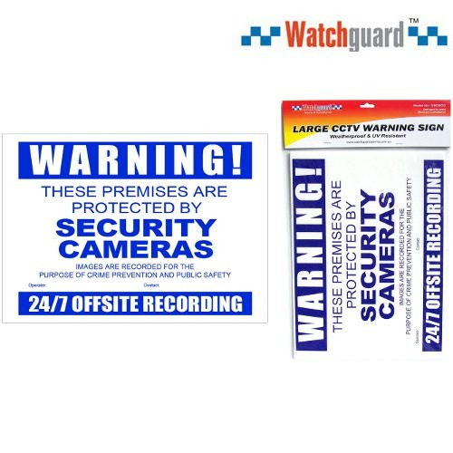 Cctv Security Warning Sign Corflute A3size Bourne