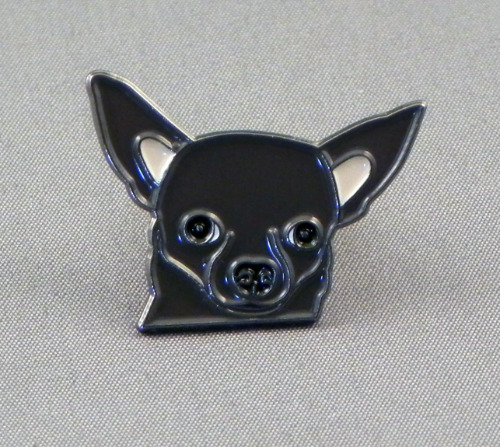Chihuahua head dark brown