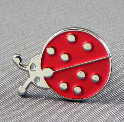 Ladybird (with incorect plating) Pin Badge
