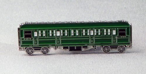 Steam train pin badge Station Master Mallard Flying Scotsman and Carriages
