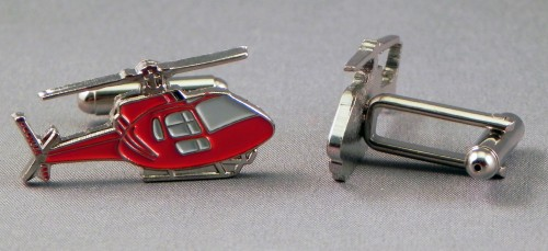 Red helicopter cufflinks.jpeg