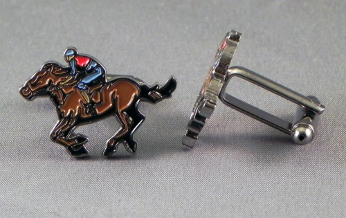 Horse and jockey cufflinks.jpeg