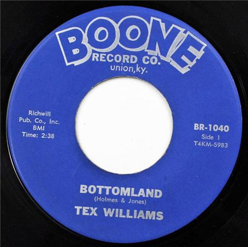 Tex Williams, Bottomland - The First Step Down, Boone Records BR- 1040
