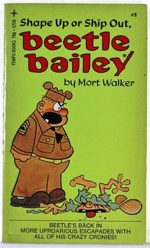 Beetle Bailey, Shape Up Or Ship Out by Mort Walker 1974 Tempo Paperback