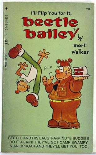 Beetle Bailey, I'll Flip You For It by Mort Walker 1977 Tempo Paperback