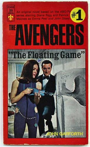 The Avengers 1, The Floating Game by John Garforth 1967 Berkley Books Paperback