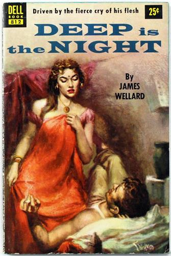 Deep is the Night by James Wellard 1953 Dell Paperback 812