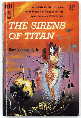 The Sirens of Titan by Kurt Vonnegut Jr. 1959 Dell Paperback B-138
