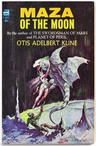 Maza of the Moon by Otis Adelbert Kline 1965 Ace Paperback F-321