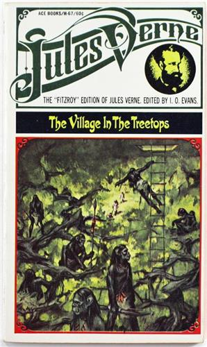 The Village In The Treetops by Jules Verne 1968 Ace H-67 Paperback