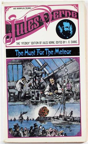 The Hunt For the Meteor by Jules Verne 1968 Ace H-78 Paperback