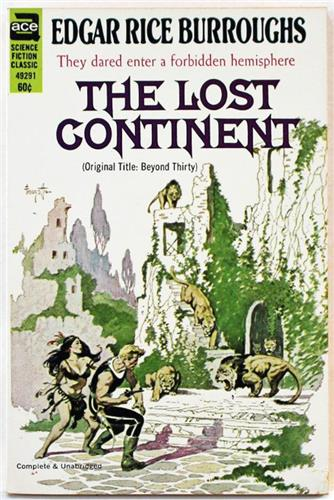 Lost Continent by Edgar Rice Burroughs, Ace Book 49291 Paperback