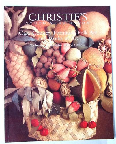 Christies catalogue Oak, Country Furniture, Folk Art and Works of Art, Nov 2007