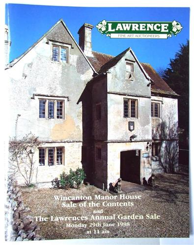 Lawrence auction catalogue Wincanton Manor House and Annual Garden Sale June1998
