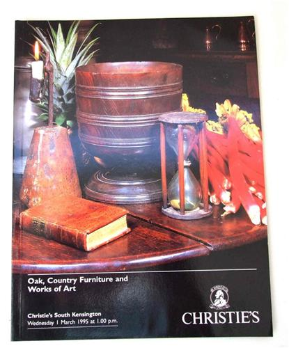 Christies catalogue Oak,Country Furniture,, Works of Art March 1995