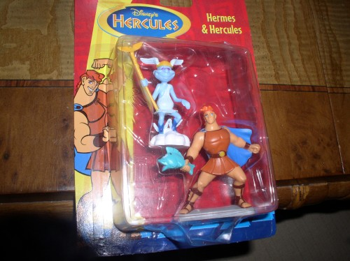 Disney Hermes and Hercules carded toys