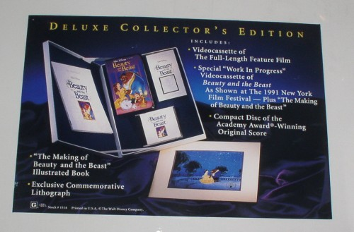 Beauty & Beast Disney Deluxe Collectors Making of the of movie Lithograph etc